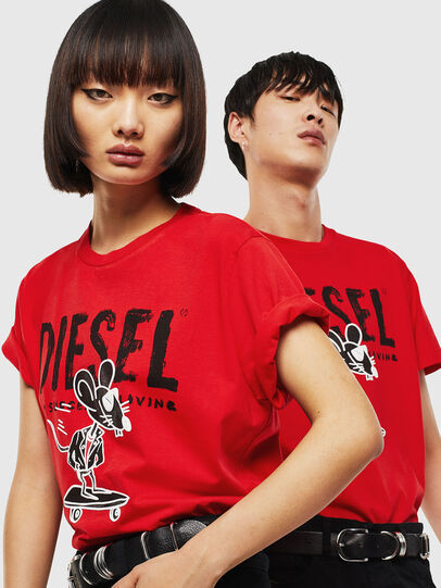 Diesel - CL-T-DIEGO-1, Rosso - T-Shirts - Image 5