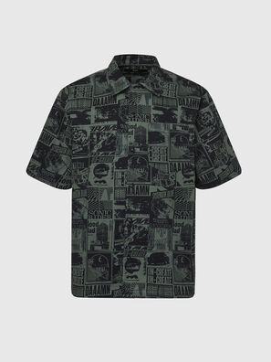 S-ROHAD-B, Nero/Verde - Camicie