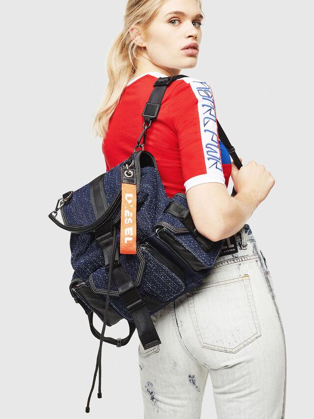 Diesel - MISS-MATCH BACKPACK, Blu Jeans - Zaini - Image 5