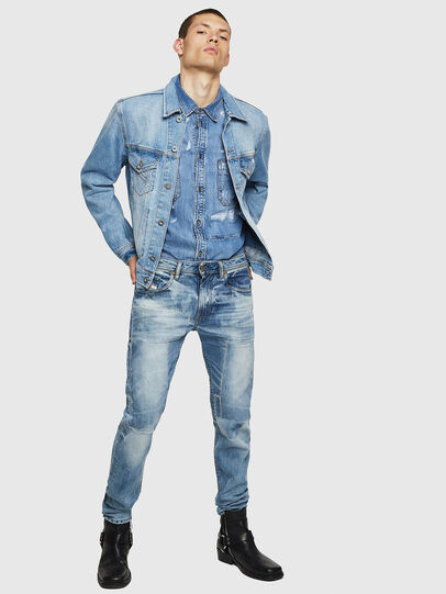 Diesel - Thommer 0092F, Blu Chiaro - Jeans - Image 6