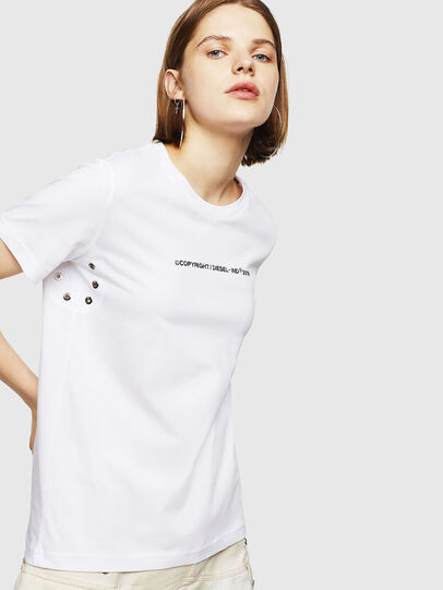 Diesel - T-SILY-WR, Bianco - T-Shirts - Image 1