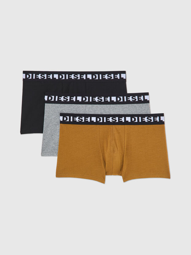 UMBX-SHAWNTHREEPACK, Nero/Marrone - Boxer stretch