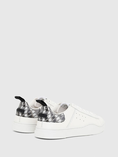 Diesel - S-CLEVER LOW W, Bianco/Argento - Sneakers - Image 3