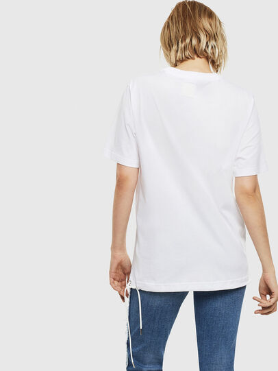 Diesel - T-HUSTY, Bianco - T-Shirts - Image 5