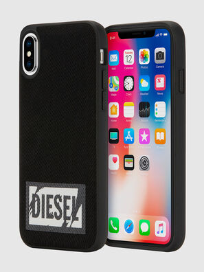 BLACK DENIM IPHONE X CASE, Nero - Cover