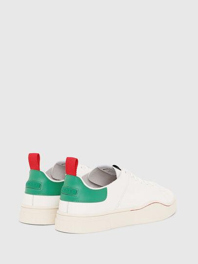 Diesel - S-CLEVER LS, Bianco/Verde - Sneakers - Image 3