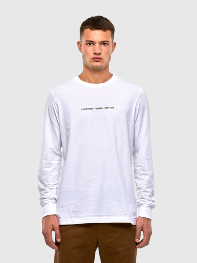 Diesel - T-JUST-LS-X93, Bianco - T-Shirts - Image 1
