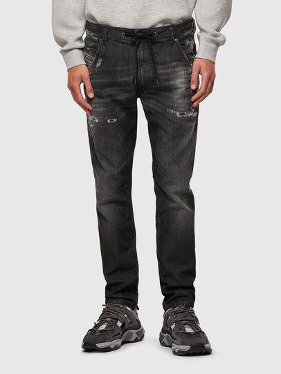 Diesel - Krooley JoggJeans® 09B53, Nero/Grigio scuro - Jeans - Image 1