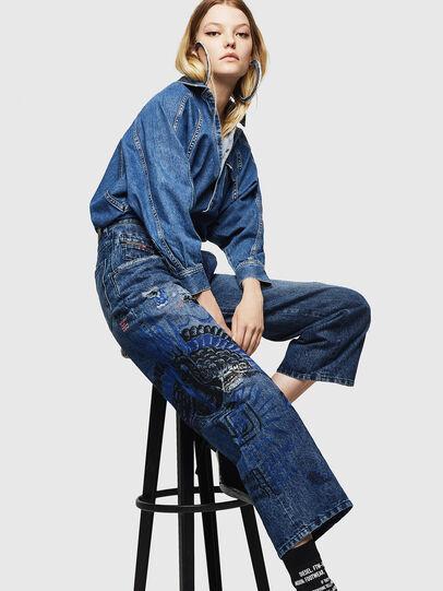 Diesel - Widee 0092Z, Blu medio - Jeans - Image 4