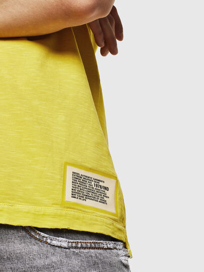 Diesel - T-DIEGO-CUT-A, Giallo - T-Shirts - Image 5
