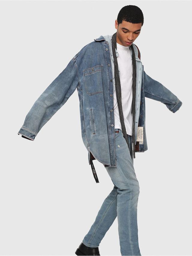Diesel - Krooley JoggJeans 086AY, Blu medio - Jeans - Image 3