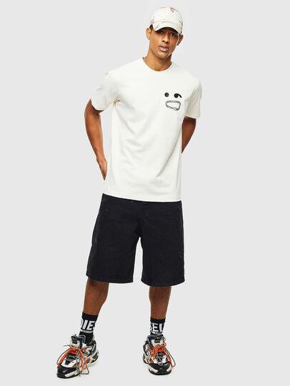 Diesel - T-JUST-T14, Bianco - T-Shirts - Image 4