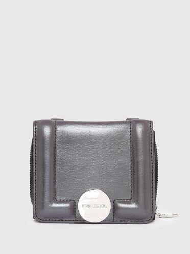 Portafoglio - mini borsa in pelle iridescente