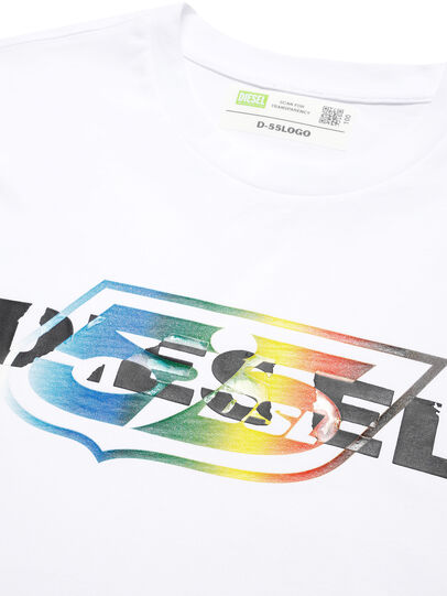 Diesel - D-55LOGO, Bianco - T-Shirts - Image 3