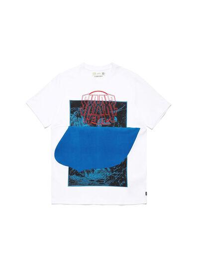 Diesel - D-SHIELD-BLU, Bianco - T-Shirts - Image 1