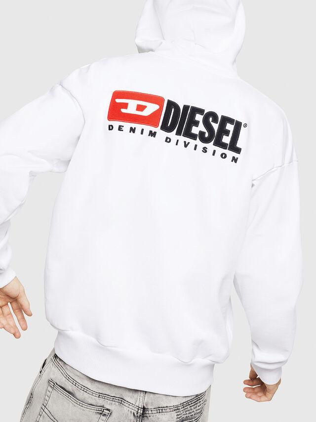 Diesel - S-ALBY-ZIP-DIV, Bianco - Felpe - Image 2