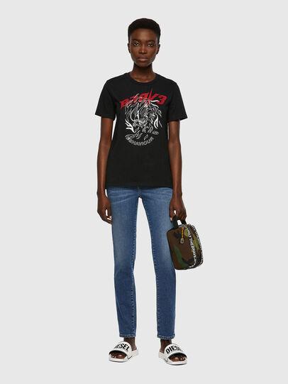 Diesel - T-SILY-B2, Nero - T-Shirts - Image 4