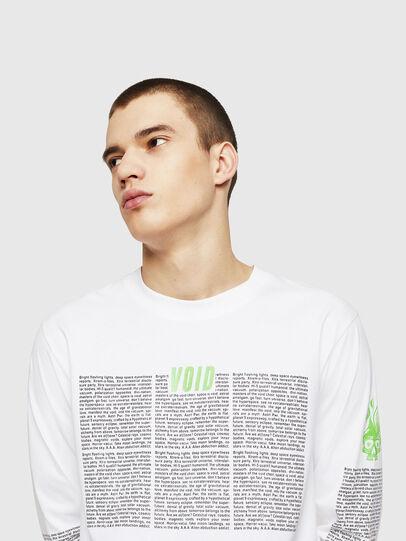 Diesel - T-JUST-LS-NEW, Bianco - T-Shirts - Image 4
