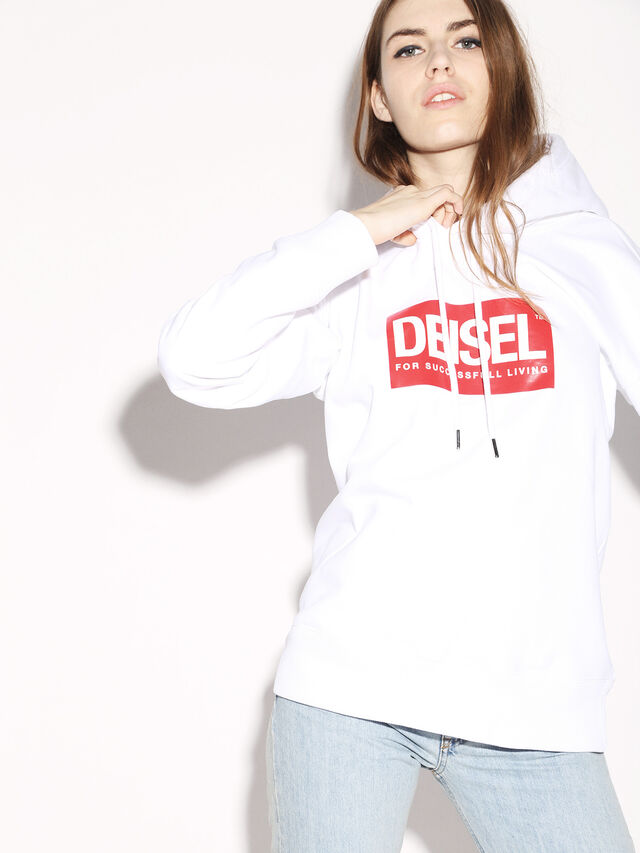Diesel - DEIS-SHOOD, Bianco - Felpe - Image 8