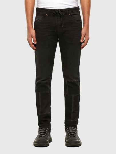 Diesel - Thommer JoggJeans 009IC, Nero/Grigio scuro - Jeans - Image 1
