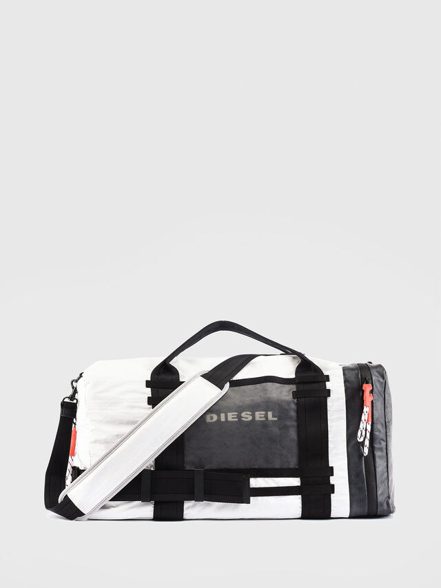Diesel - M-CAGE DUFFLE M, Bianco/Nero - Borse da viaggio - Image 1
