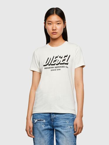 T-shirt Green Label con logo stampato