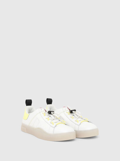 Diesel - S-CLEVER SO C, Bianco/Giallo - Sneakers - Image 2