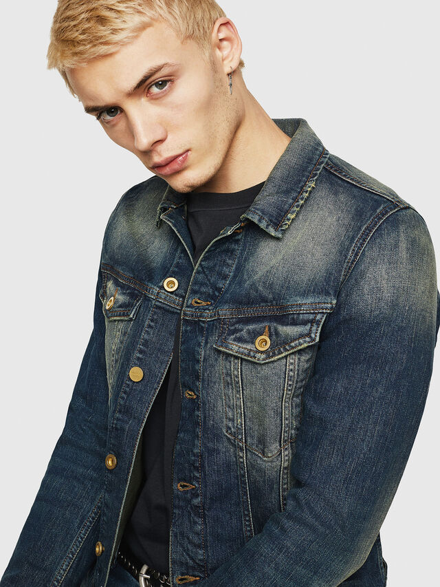 Diesel - D-GALY, Blu Scuro - Giacche in denim - Image 4