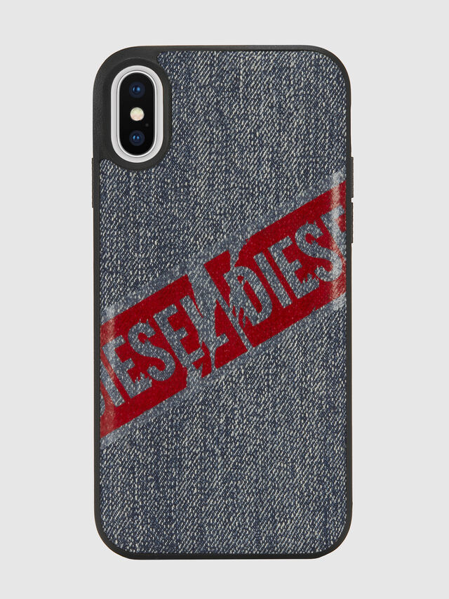 Diesel - VINTAGE DENIM IPHONE X CASE, Blu Jeans - Cover - Image 2