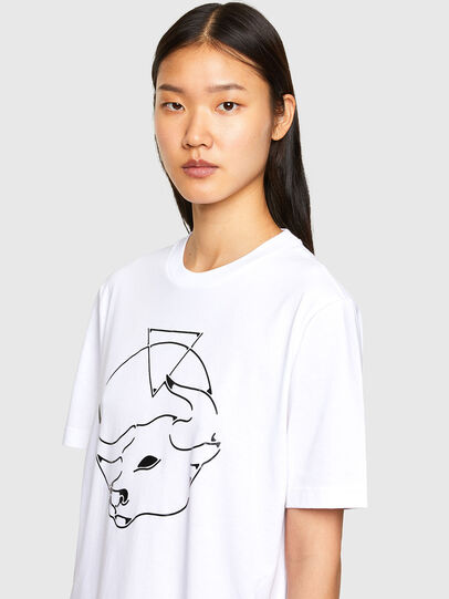 Diesel - CL-T-JUST-O, Bianco - T-Shirts - Image 6