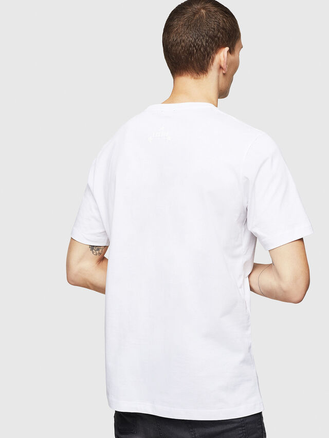 Diesel - T-JUST-A12, Bianco - T-Shirts - Image 2