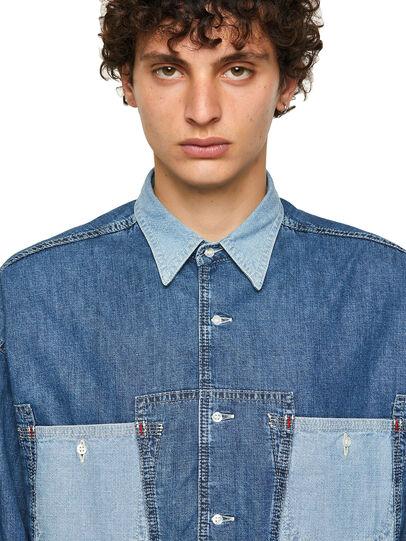 Diesel - DxD-SHIRT, Blu medio - Camicie in Denim - Image 3
