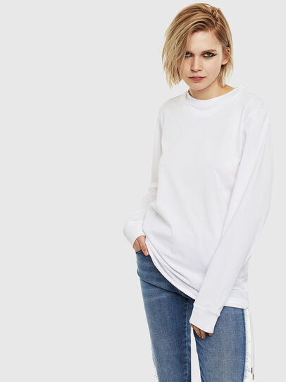 Diesel - T-HUSTY-LS, Bianco - T-Shirts - Image 2