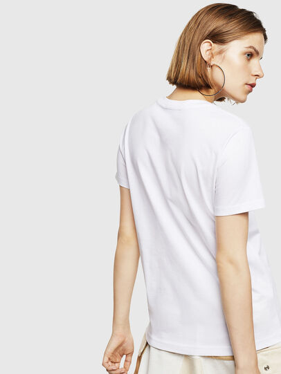 Diesel - T-SILY-WR, Bianco - T-Shirts - Image 2