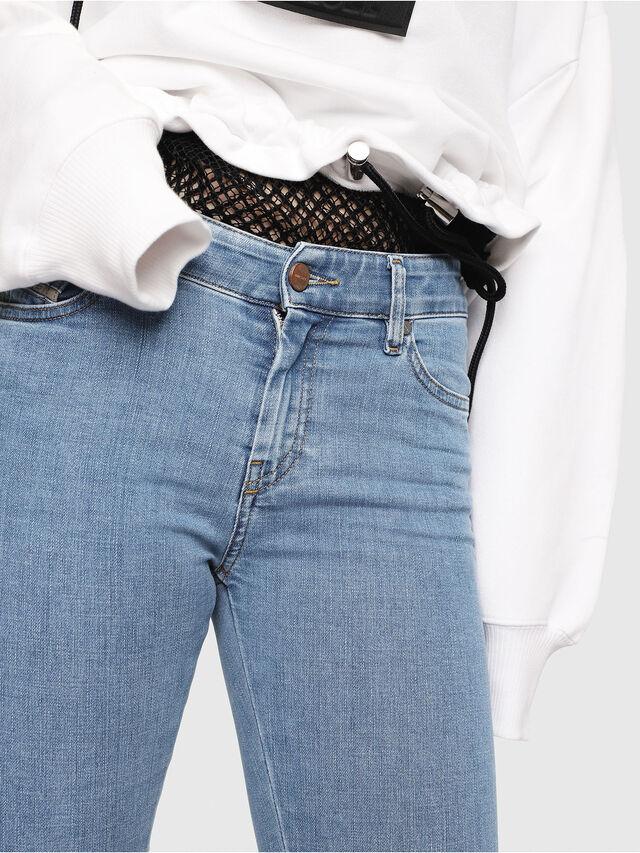 Diesel - Slandy Zip 069FN, Blu Chiaro - Jeans - Image 4