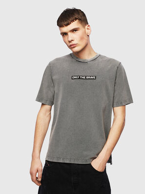 T-JUST-SLITS-T15, Grigio - T-Shirts