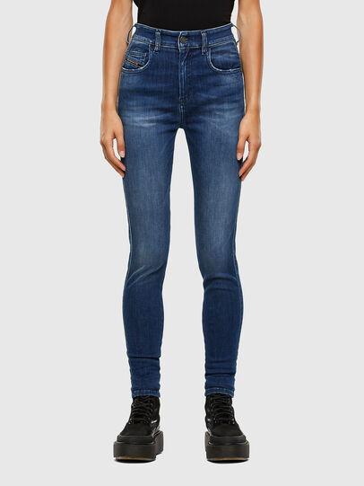 Diesel - Slandy High 009FE, Blu Scuro - Jeans - Image 1