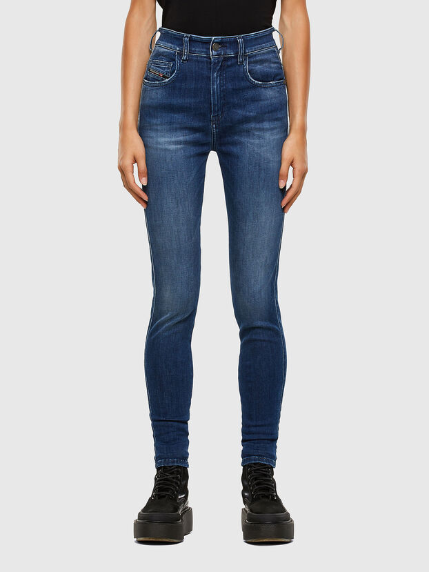 Slandy High 009FE, Blu Scuro - Jeans