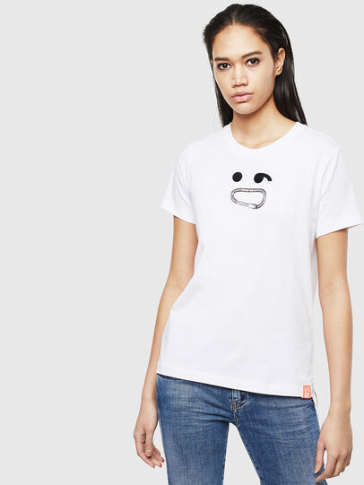 Diesel - T-SILY-S8, Bianco - T-Shirts - Image 1