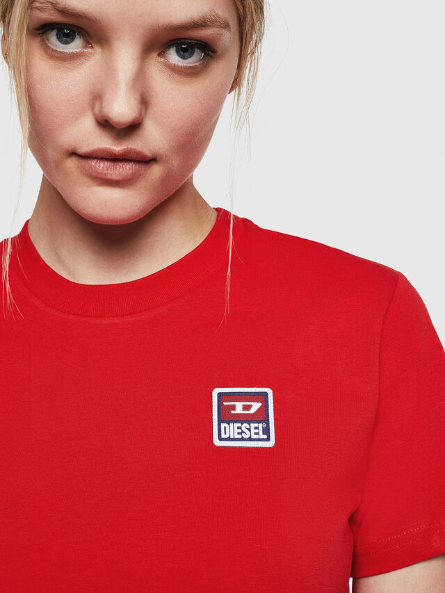Diesel - T-SILY-ZE, Rosso Fuoco - T-Shirts - Image 5