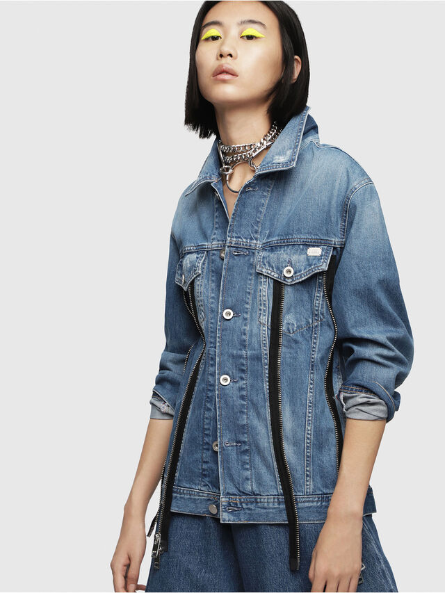 Diesel - DE-LILAC, Blu Jeans - Giacche in denim - Image 1