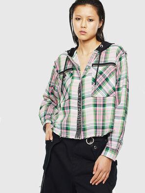 C-ANGELS-HOOD, Verde - Camicie