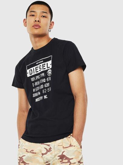 Diesel - T-DIEGO-S1, Nero - T-Shirts - Image 1