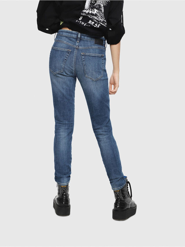 Diesel - Babhila 082AB, Blu Scuro - Jeans - Image 2
