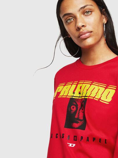 Diesel - LCP-T-JUST-LS-PALERM, Rosso - T-Shirts - Image 5