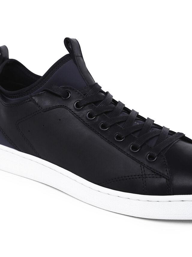 Diesel - S18ZERO, Blu Scuro - Sneakers - Image 4