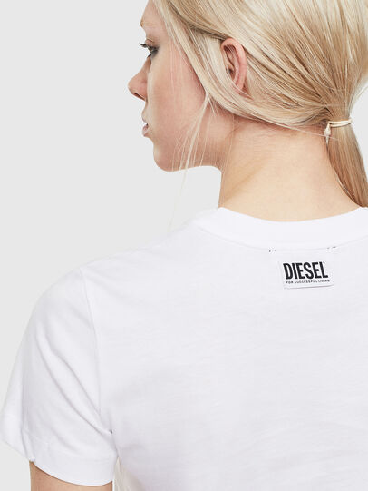 Diesel - T-SILY-S5, Bianco - T-Shirts - Image 3