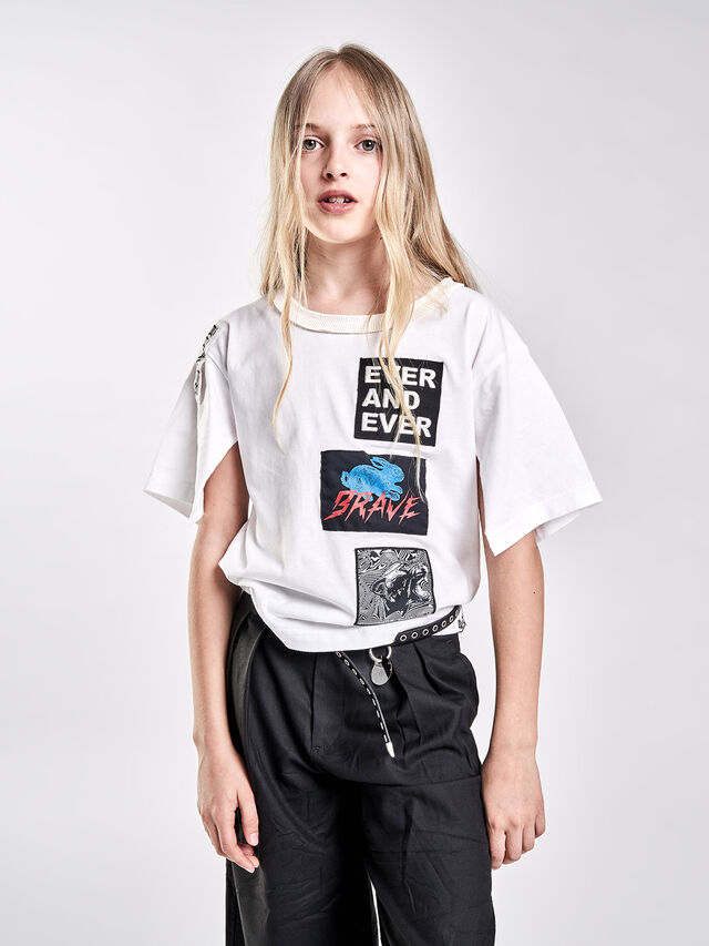 Diesel - TJACKY, Bianco - T-shirts e Tops - Image 4