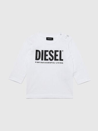 Diesel - TJUSTLOGOB ML, Bianco - T-shirts e Tops - Image 1