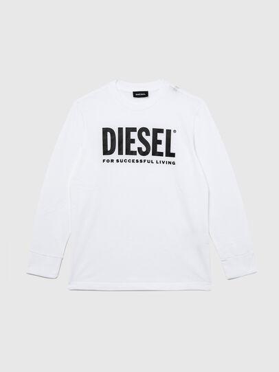 Diesel - TJUSTLOGO ML, Bianco - T-shirts e Tops - Image 1